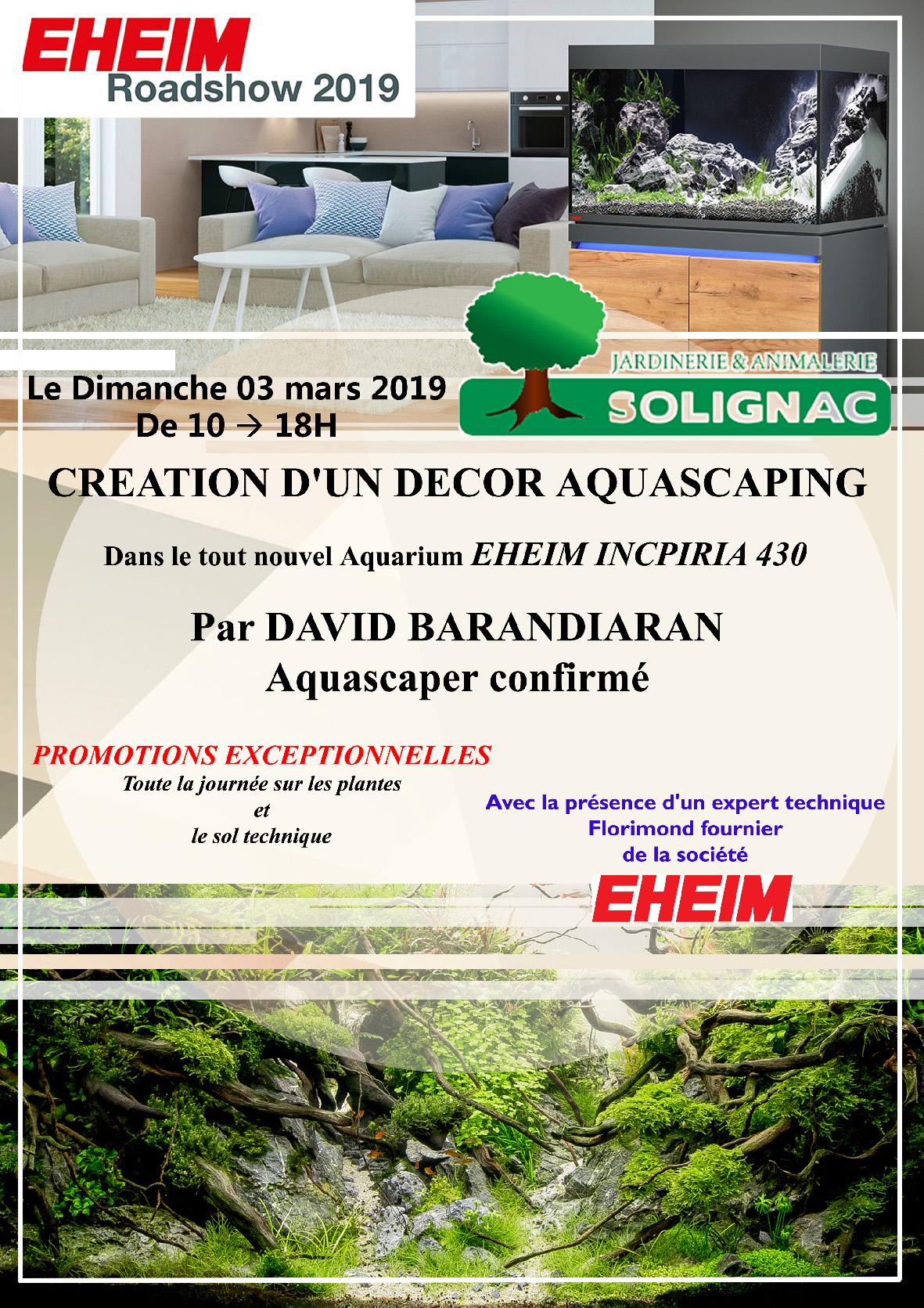 Dimanche 03/03/2019 Nord de Toulouse Animation aquascaping Afiche-Solignac